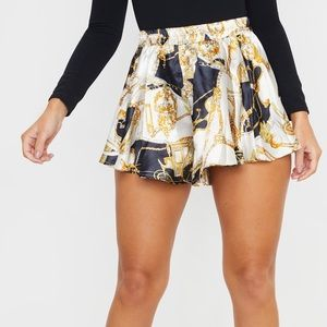 NWT Pretty Little Thing Satin Shorts
